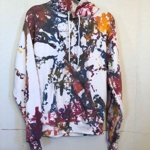 Tie-Dyed Oversized Hoodie in Size Small